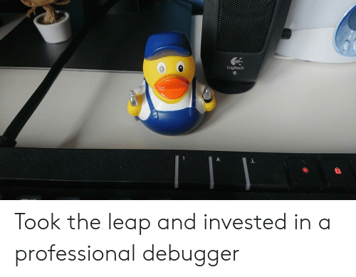 leap: Logitech Took the leap and invested in a professional debugger