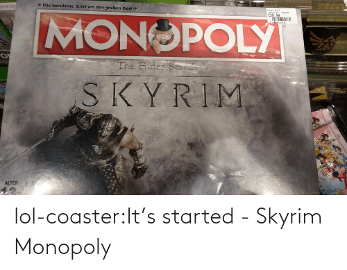 ideas: lol-coaster:It's started - Skyrim Monopoly