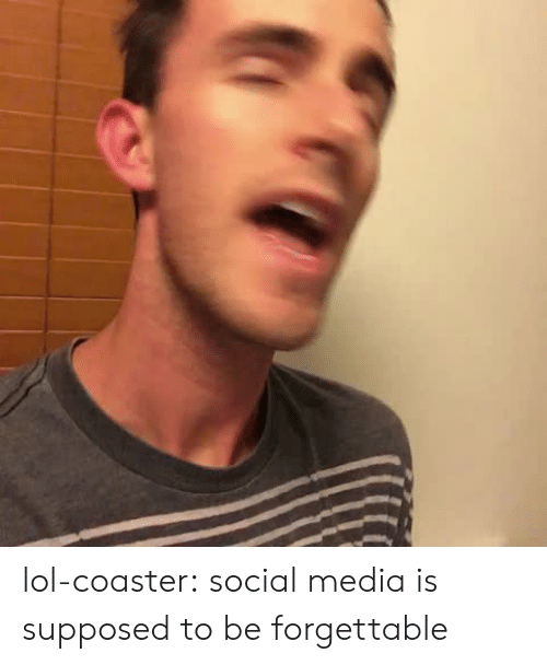 Forgettable: lol-coaster:    social media is supposed to be forgettable