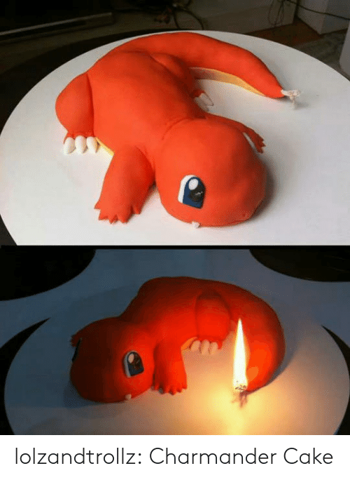 charmander: lolzandtrollz:  Charmander Cake