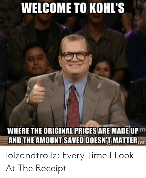 Time I: lolzandtrollz:  Every Time I Look At The Receipt