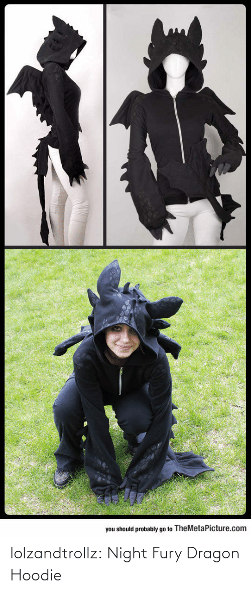 dragon: lolzandtrollz:  Night Fury Dragon Hoodie