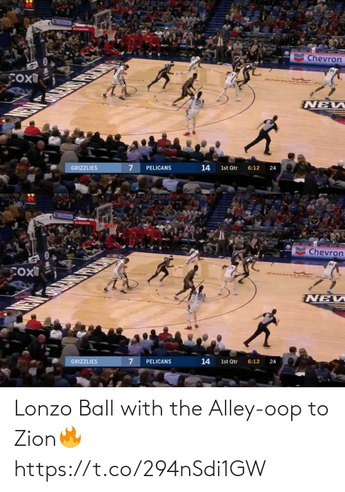 ball: Lonzo Ball with the Alley-oop to Zion🔥 https://t.co/294nSdi1GW