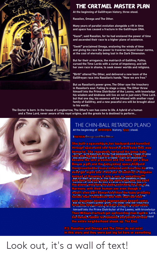 Doctor Who: Look out, it's a wall of text!