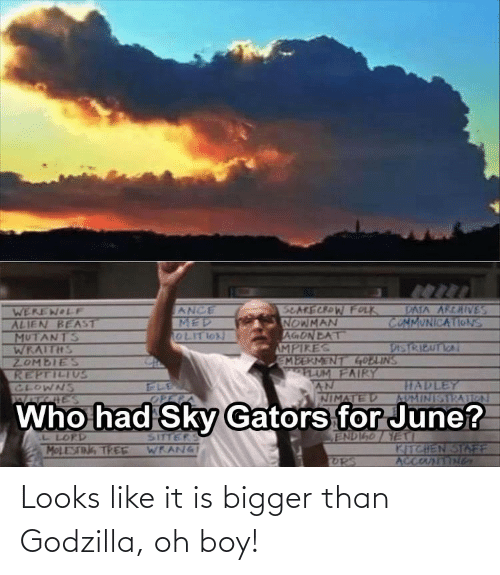 It Is: Looks like it is bigger than Godzilla, oh boy!