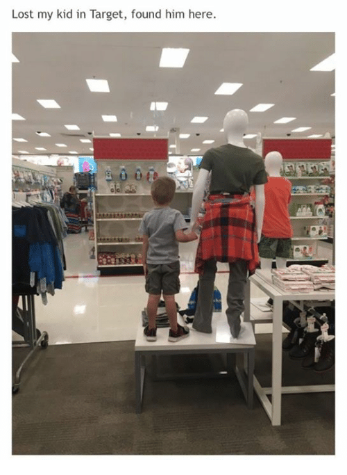 Target, Lost, and Him: Lost my kid in Target, found him here.