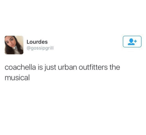 Coachella: Lourdes  @gossipgrill  coachella is just urban outfitters the  musical