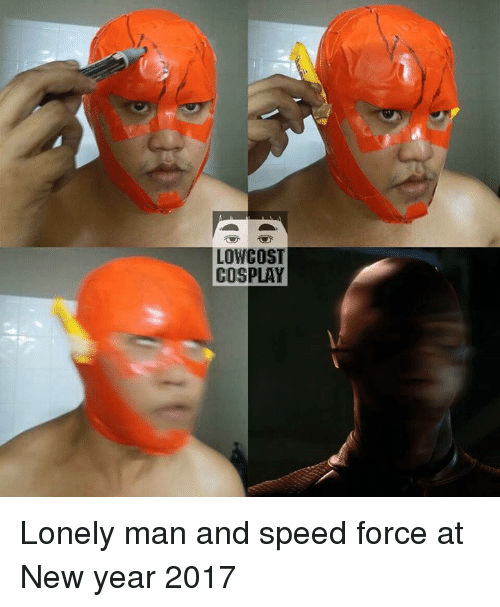 Low Cost Cosplay : LOW COST  COSPLAY Lonely man and speed force at New year 2017