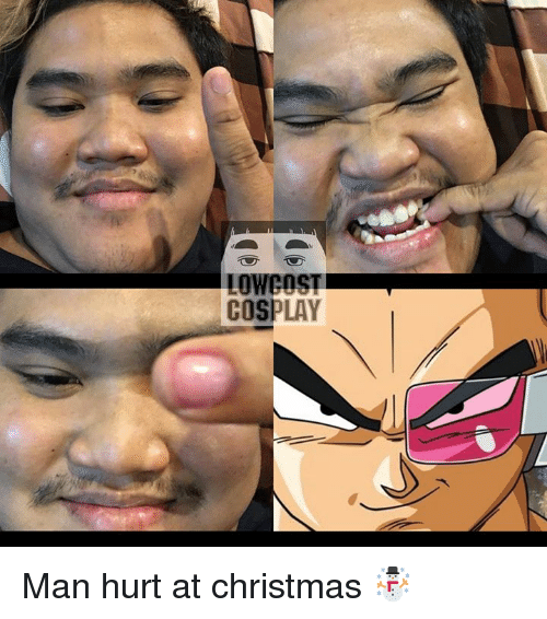 Low Cost Cosplay : LOW COST  COSPLAY Man hurt at christmas ☃