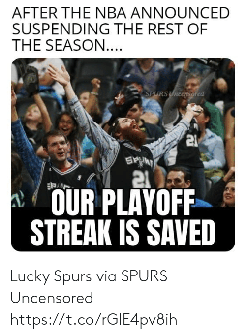Spurs: Lucky Spurs   via SPURS Uncensored https://t.co/rGIE4pv8ih