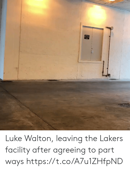 Los Angeles Lakers, Luke Walton, and Sports: Luke Walton, leaving the Lakers facility after agreeing to part ways https://t.co/A7u1ZHfpND