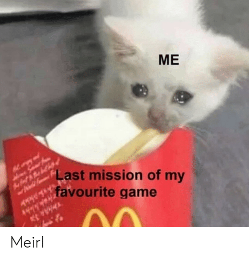 mission: MЕ  Last mission of my  favourite game Meirl