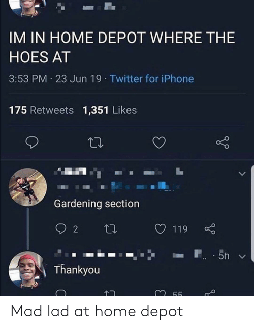 Depot: Mad lad at home depot