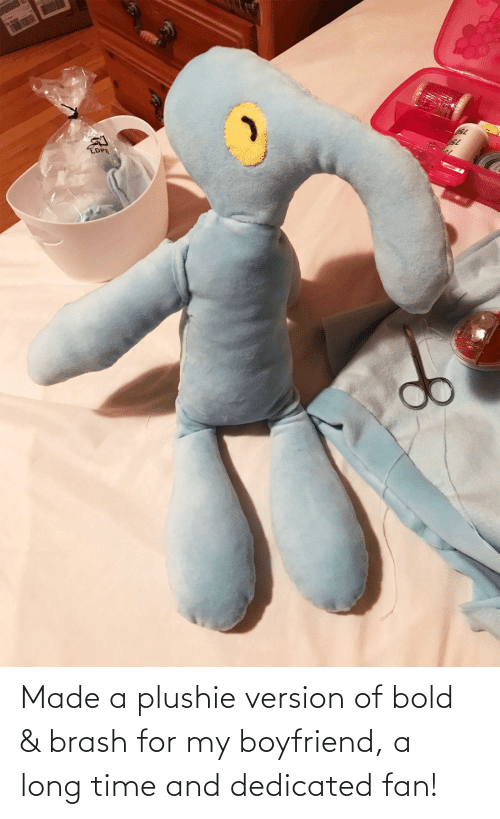 A Long: Made a plushie version of bold & brash for my boyfriend, a long time and dedicated fan!