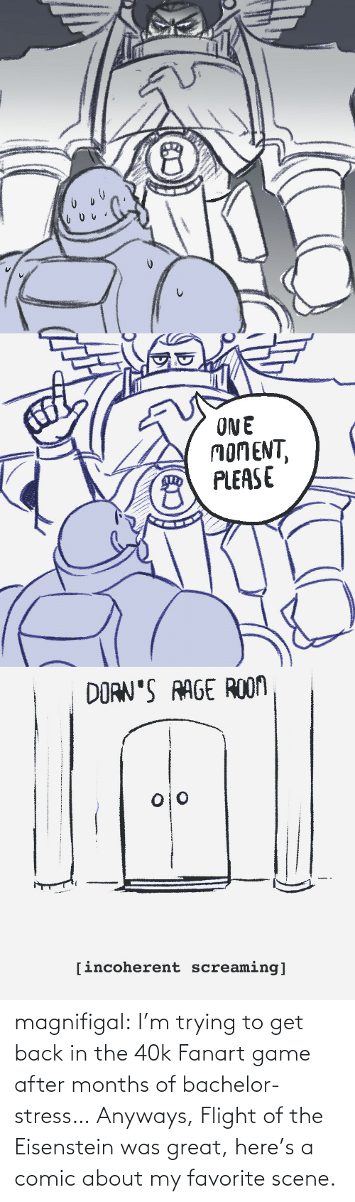 Im Trying: magnifigal:  I'm trying to get back in the 40k Fanart game after months of bachelor-stress… Anyways, Flight of the Eisenstein was great, here's a comic about my favorite scene.