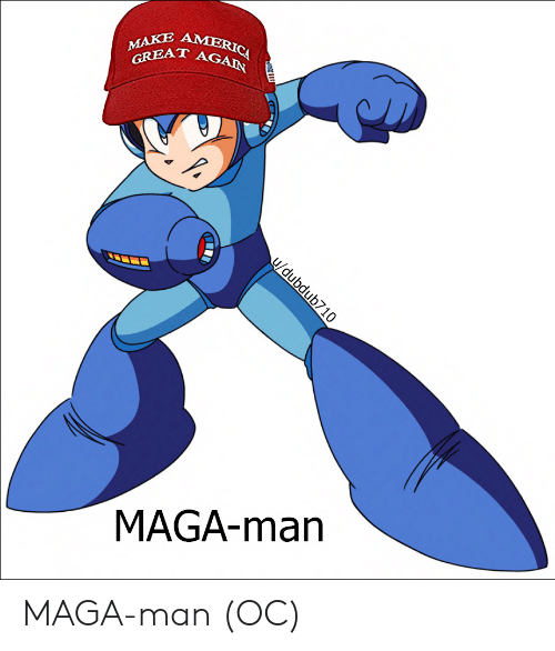 America, Funny, and Man: MAKE AMERICA  GREAT AGAIN  u/dubdub710  MAGA-man MAGA-man (OC)