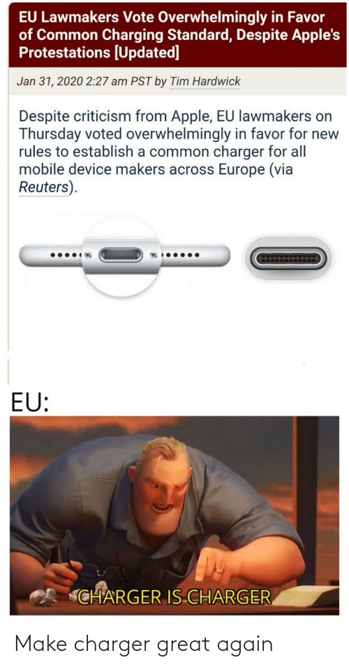 Great Again: Make charger great again