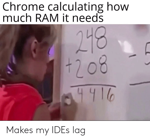 Ides, Lag, and My: Makes my IDEs lag