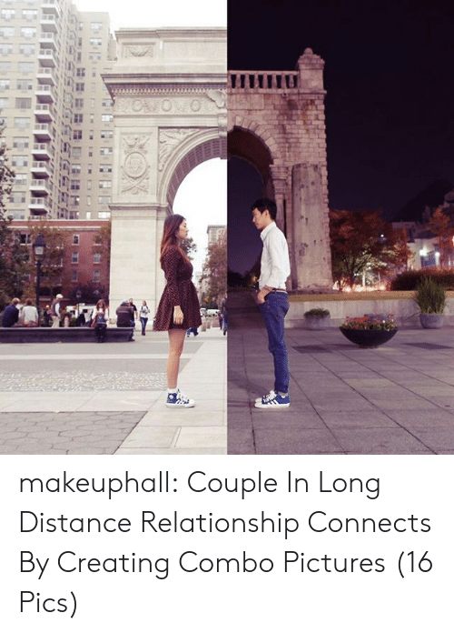 Distance Relationship: makeuphall:  Couple In Long Distance Relationship Connects By Creating Combo Pictures (16 Pics)