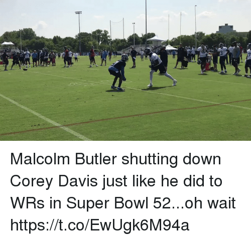 Nfl, Super Bowl, and Bowl: Malcolm Butler shutting down Corey Davis just like he did to WRs in Super Bowl 52...oh wait  https://t.co/EwUgk6M94a