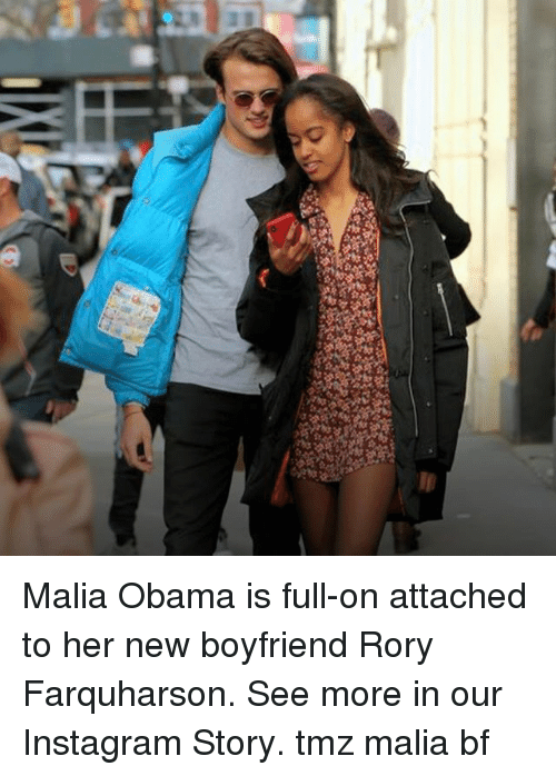 New Boyfriend: Malia Obama is full-on attached to her new boyfriend Rory Farquharson. See more in our Instagram Story. tmz malia bf