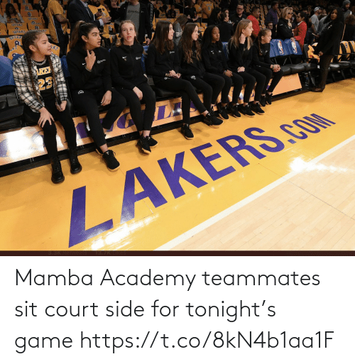 court: Mamba Academy teammates sit court side for tonight's game https://t.co/8kN4b1aa1F