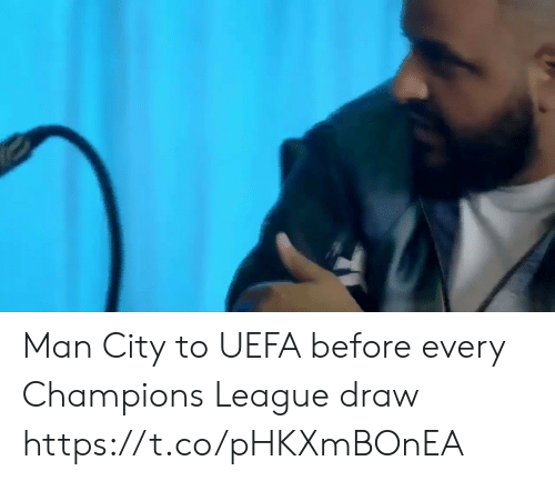 Champions League: Man City to UEFA before every Champions League draw https://t.co/pHKXmBOnEA