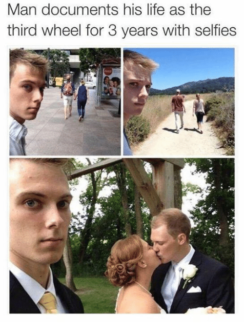 Third Wheels: Man documents his life as the  third wheel for 3 years with selfies