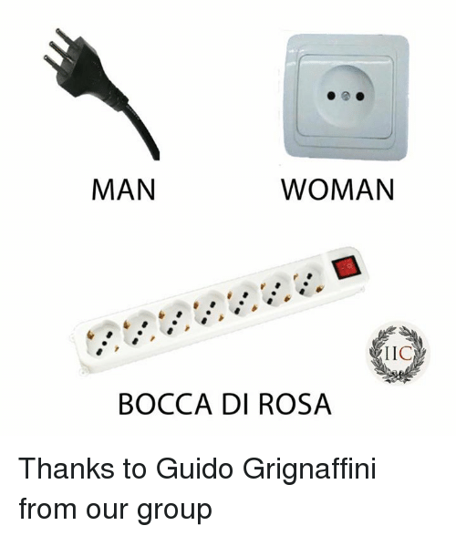 Memes, 🤖, and Group: MAN  WOMAN  IIC  BOCCA DI ROSA Thanks to Guido Grignaffini from our group