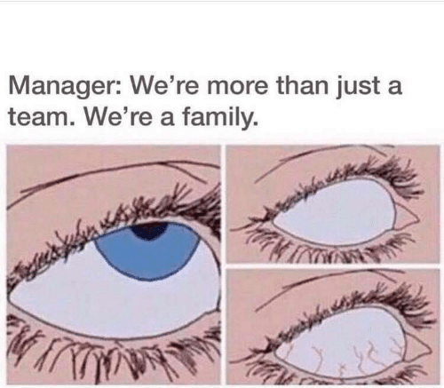 a team: Manager: We're more than just a  team. We're a family.  প