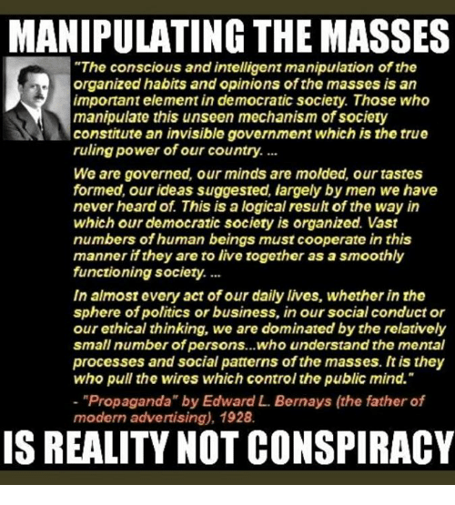 propaganda the best way to manipulate society