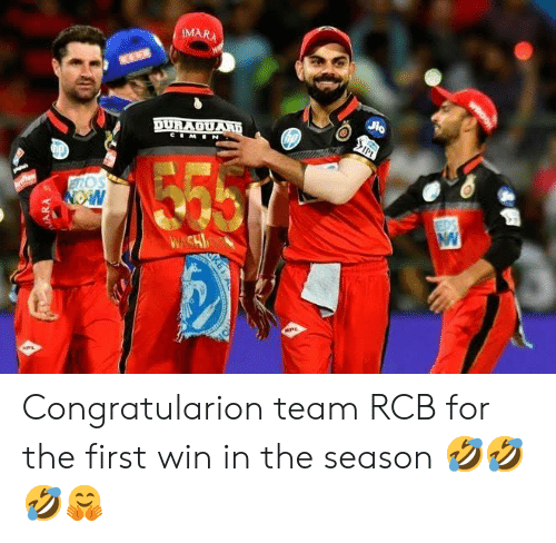 Indianpeoplefacebook, Team, and First: MARA  Os Congratularion team RCB for the first win in the season 🤣🤣🤣🤗