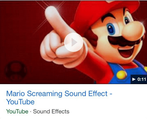 sound effect: Mario Screaming Sound Effect  YouTube  YouTube Sound Effects