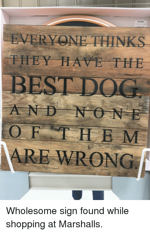 marshalls: Marshalls  EVERY NE THINKS  THEY HAVE THE  AND NO NE  OFTHE M  ARE WRONG <p>Wholesome sign found while shopping at Marshalls.</p>