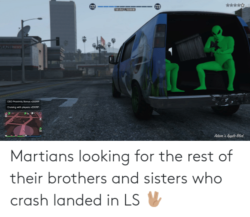 sisters: Martians looking for the rest of their brothers and sisters who crash landed in LS 🖖🏽