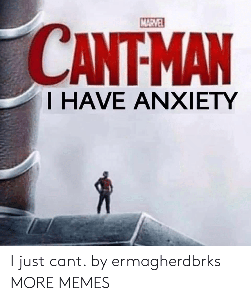 Dank, Memes, and Target: MARVEL  CANTMAN  T HAVE ANXIETY I just cant. by ermagherdbrks MORE MEMES