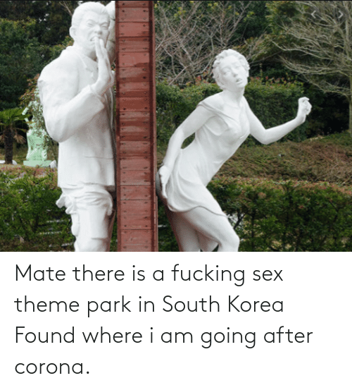 corona: Mate there is a fucking sex theme park in South Korea Found where i am going after corona.