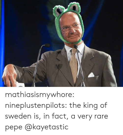 Rare Pepe: mathiasismywhore:  nineplustenpilots:  the king of sweden is, in fact, a very rare pepe   @kayetastic