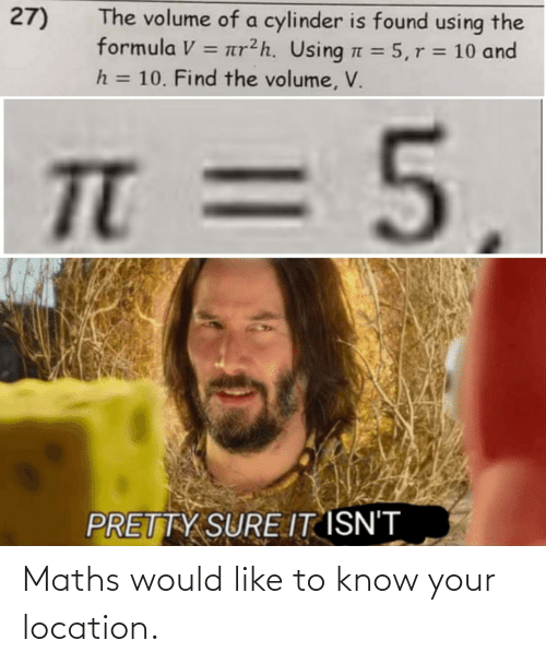 Location: Maths would like to know your location.