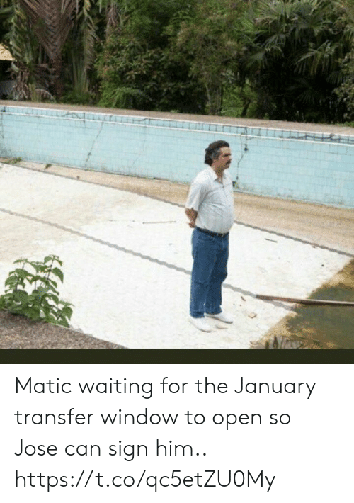 Soccer, Waiting..., and Him: Matic waiting for the January transfer window to open so Jose can sign him.. https://t.co/qc5etZU0My