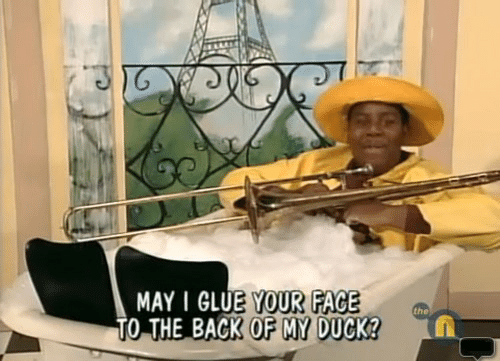 Duck, Back, and May: MAY I GLUE YOUR FACE  TO THE BACK OF MY DUCK  the