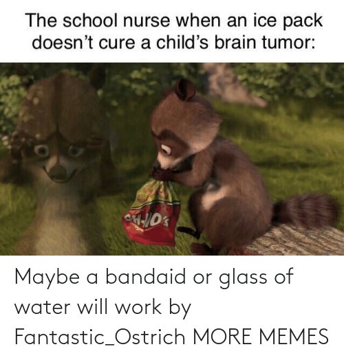 bandaid: Maybe a bandaid or glass of water will work by Fantastic_Ostrich MORE MEMES