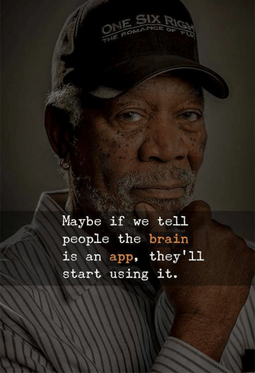 Brain, App, and The Brain: Maybe if we tell  people the brain  is an app, they'll  start using it.