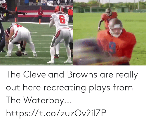 Cleveland Browns, Football, and Nfl: MAYFIELD  SHMD  BROWNS The Cleveland Browns are really out here recreating plays from The Waterboy... https://t.co/zuzOv2iIZP