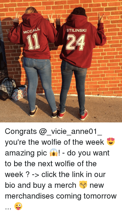 Congrations: McCALL  STILINSKI  il 24 Congrats @_vicie_anne01_ you're the wolfie of the week 😍 amazing pic 😱! - do you want to be the next wolfie of the week ? -> click the link in our bio and buy a merch 😽 new merchandises coming tomorrow ... 😜