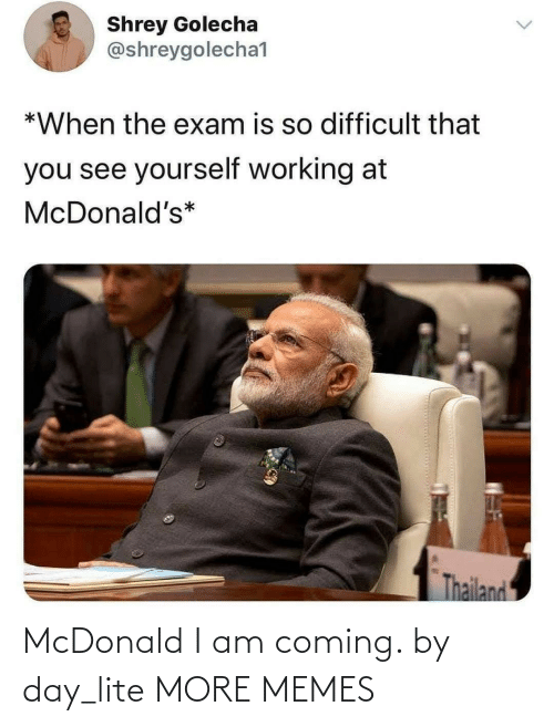 coming: McDonald I am coming. by day_lite MORE MEMES