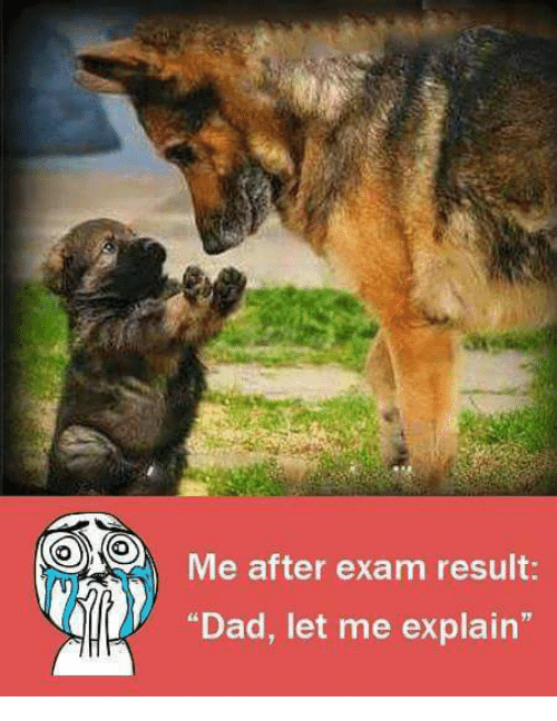 """Dad, Memes, and 🤖: Me after exam result:  """"Dad, let me explain"""""""