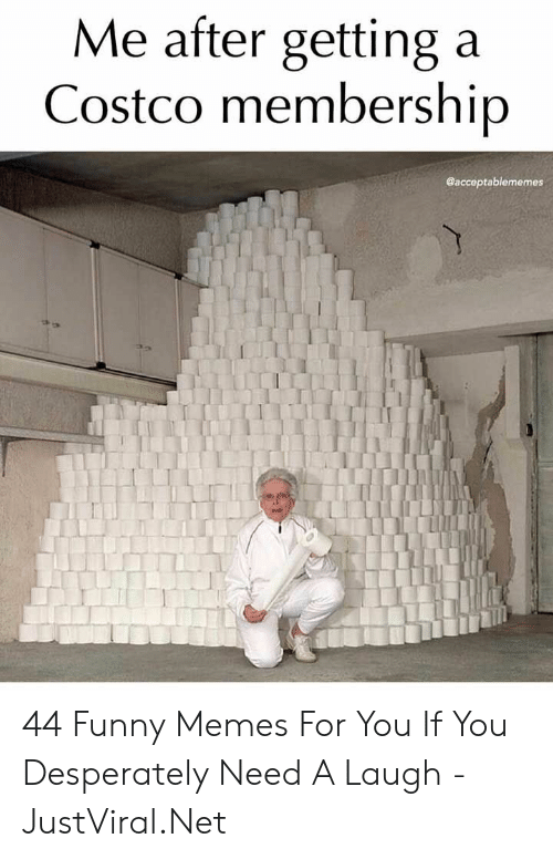 Costco, Funny, and Memes: Me after getting a  Costco membership  @acceptablememes 44 Funny Memes For You If You Desperately Need A Laugh - JustViral.Net