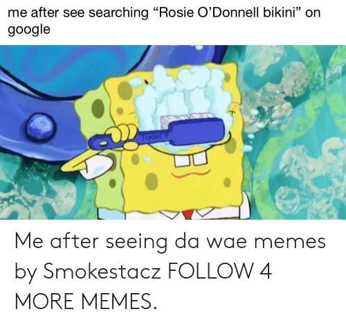 """Dank, Google, and Memes: me after see searching """"Rosie O'Donnell bikini"""" on  google  Traded IF Me after seeing da wae memes by Smokestacz FOLLOW 4 MORE MEMES."""