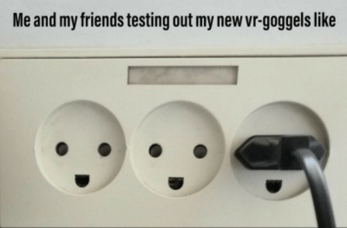 me and my friends: Me and my friends testing out my new vr-goggels like